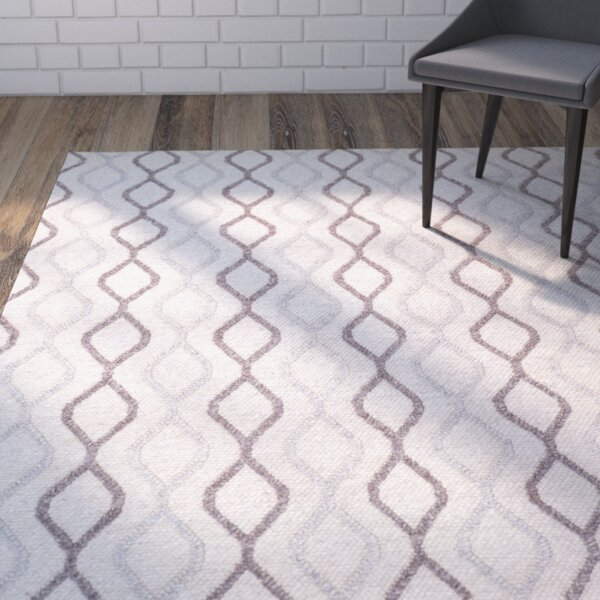 Lovern Hand-Woven Mocha/Gray Area Rug by Brayden Studio