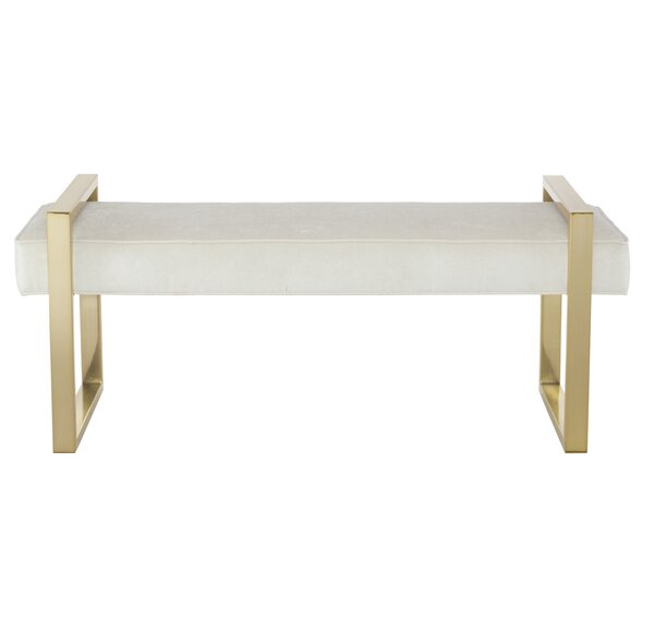 Jet Set Faux Leather Bench by Bernhardt