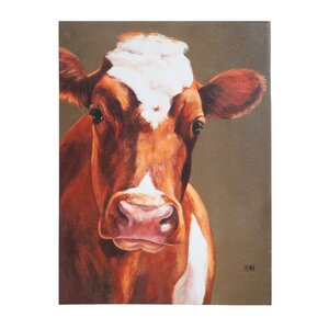 'Cow' Print on Canvas by Gracie Oaks