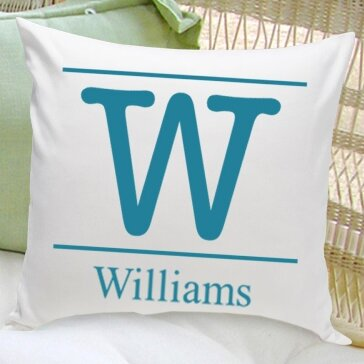 Personalized Gift Family Name Cotton Throw Pillow by JDS Personalized Gifts