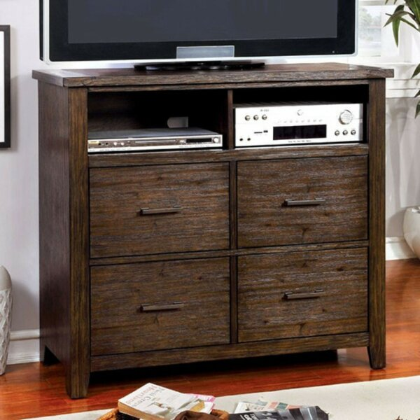 Weyant Wooden Media 4 Drawer Chest by Millwood Pines