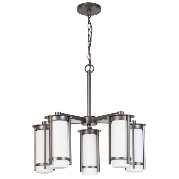 Leiser 5-Light Shaded Chandelier by Latitude Run