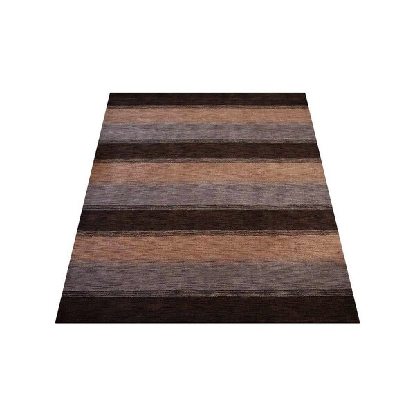 Ry Hand-Knotted Wool Brown/Beige Area Rug by Latitude Run
