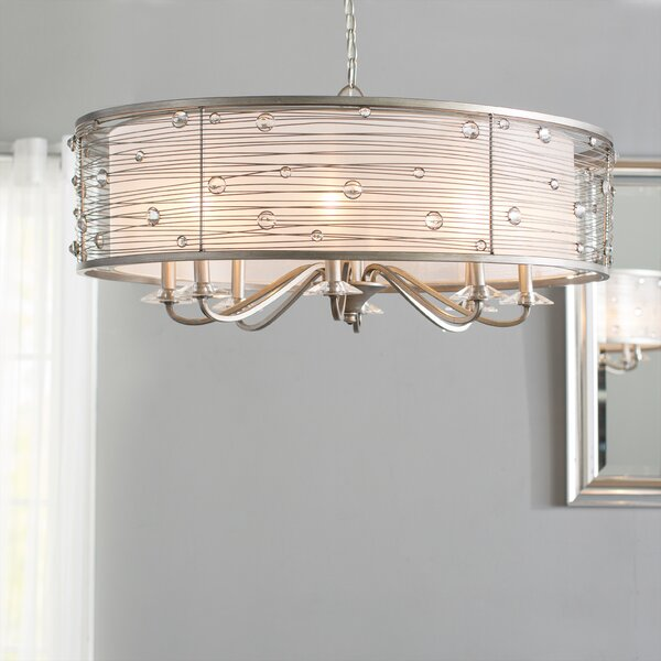 Hermione 8 - Light Unique / Statement Drum Chandelier by Willa Arlo Interiors Willa Arlo Interiors