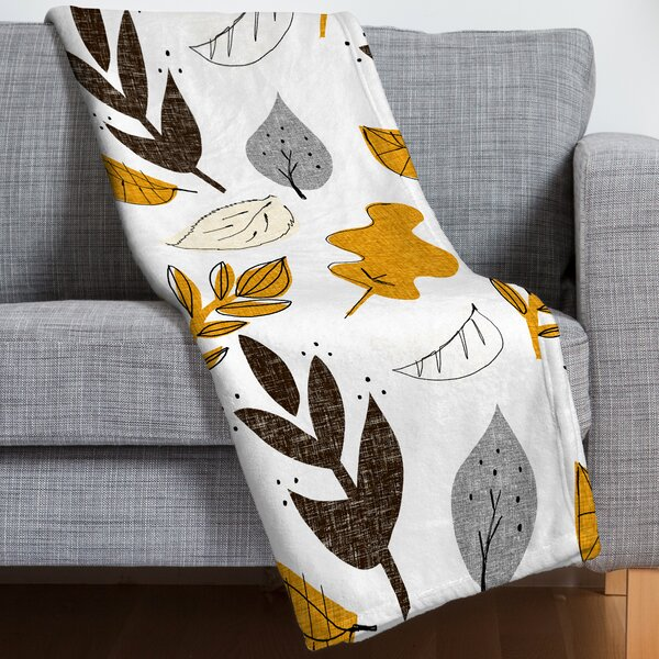 Fall Leaves Throw Blanket by East Urban Home