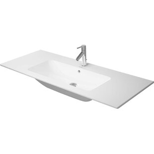 Compare prices Me by Starck Ceramic Rectangular Vessel Bathroom Sink with Overflow By Duravit