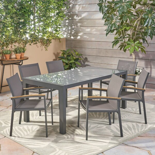 Bolesworth Outdoor 7 Piece Dining Set by Ivy Bronx