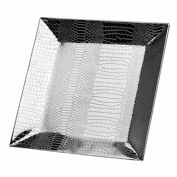 Croco Square Serving Tray by Godinger Silver Art Co