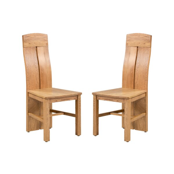 Kiazolu Solid Wood Dining Chair (Set Of 2) By Loon Peak Loon Peak