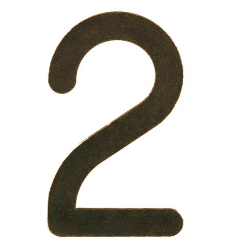 Hausnummer pulverbeschichtet ClearAmbient Farbe: Weiß / Gold patiniert| Zeichen: D | Lampen > Aussenlampen > Hausnummern | ClearAmbient