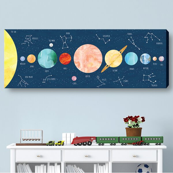 Kids Constellation Print on Wrapped Canvas by Jolie Prints