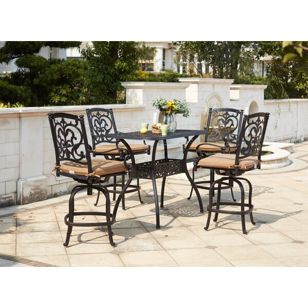 Batista 5 Piece Bar Height Dining Set with Cushions