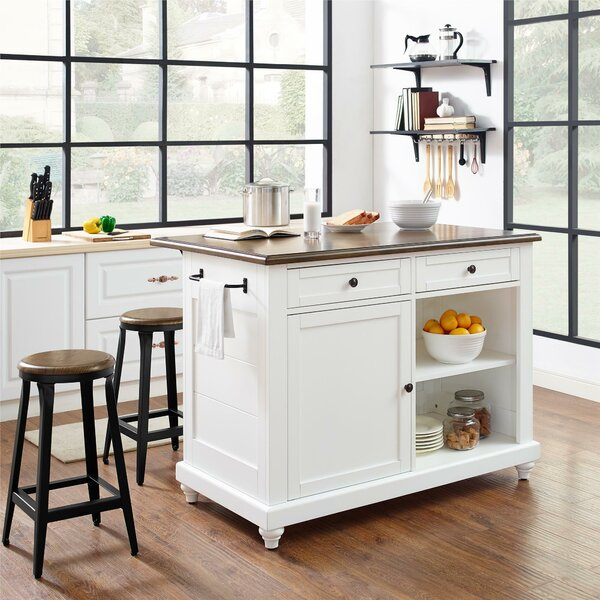 Gilchrist Kitchen Island Set by Darby Home Co