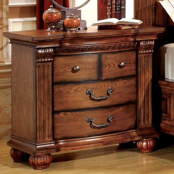 Majesta 3 Drawer Nightstand by Hokku Designs