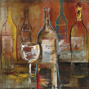 'Wine Cellar II' Painting Print on Wrapped Canvas by Andover Mills