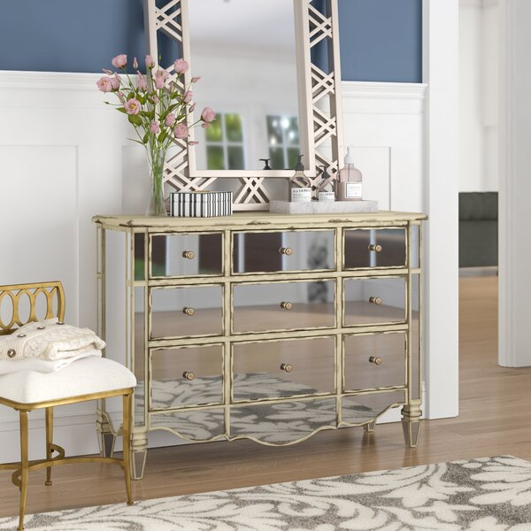 Elba 3 Drawer Mirrored Apothecary Accent Chest by Willa Arlo Interiors Willa Arlo Interiors