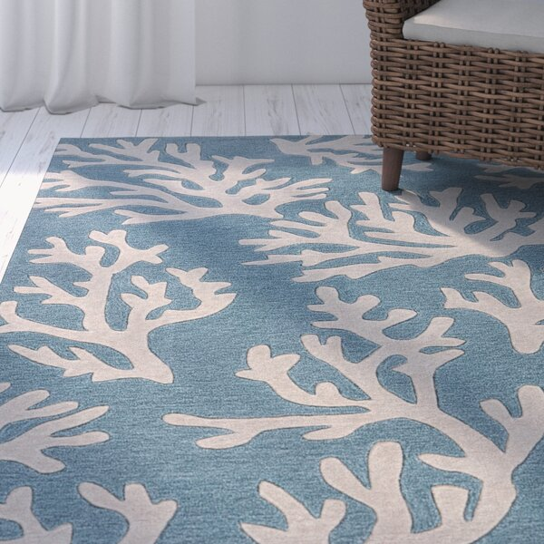 Margaret Hand-Tufted Blue/Ivory Area Rug by Highland Dunes