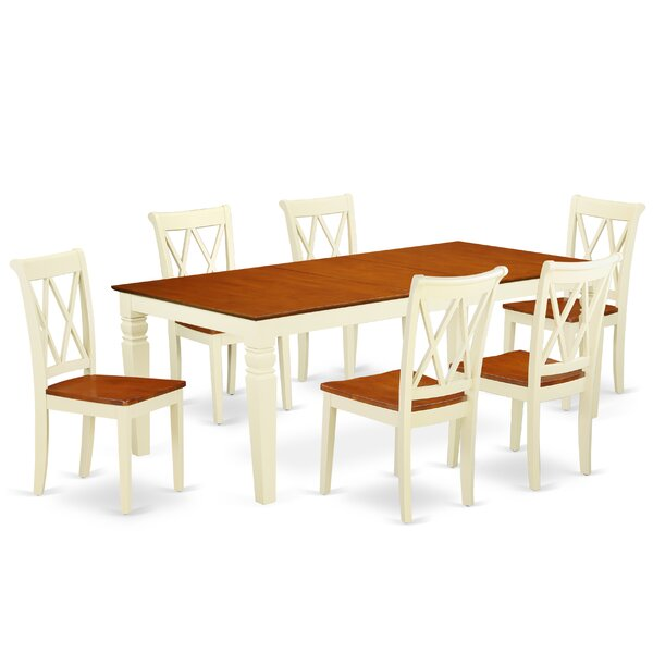 Kowal 7 Piece Extendable Solid Wood Dining Set by August Grove