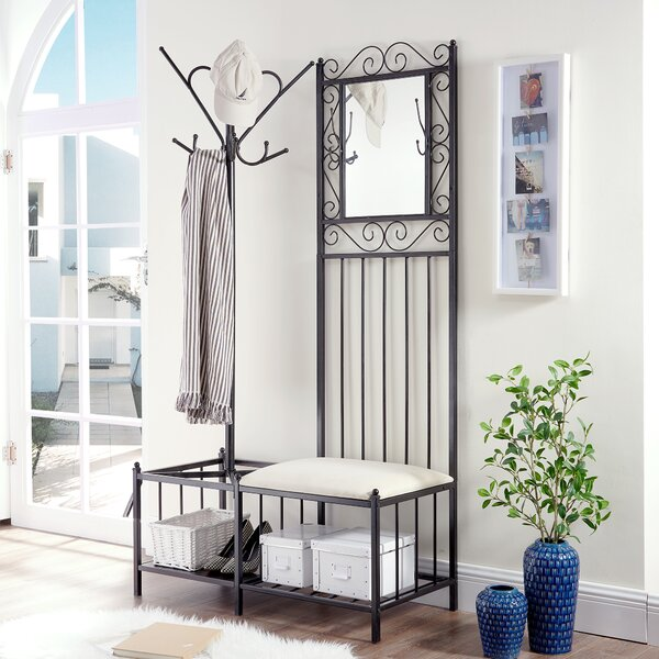 Cabott Hallway Storage Bench Hall Tree by Fleur De Lis Living