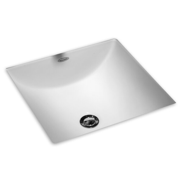 Studio Vitreous China Square Undermount Bathroom Sink with Overflow by American Standard