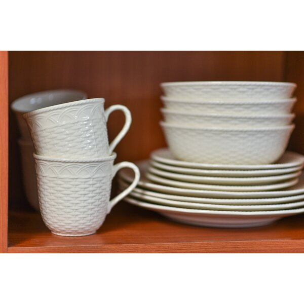 Nantucket 16 Piece Dinnerware Set, Service for 4 b
