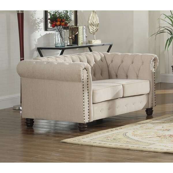 Borica Nailhead Living Room Chesterfield Loveseat by Alcott Hill