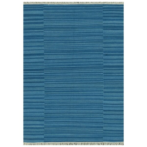 Tilly Hand-Woven Blue Area Rug by Beachcrest Home
