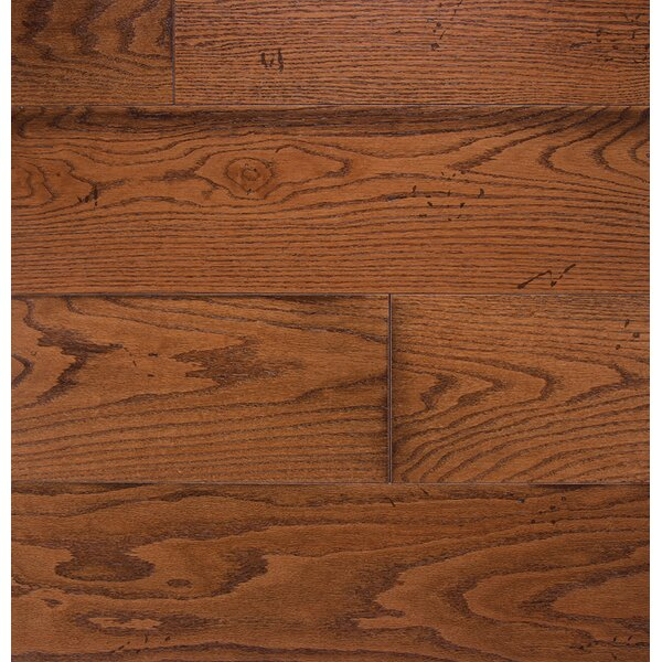 Wide Plank 7 Engineered Oak Hardwood Flooring in Gunstock by Somerset Floors