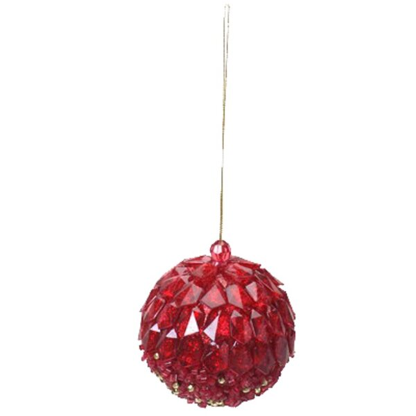 Red Ball Xmas Ornament by House of Hampton