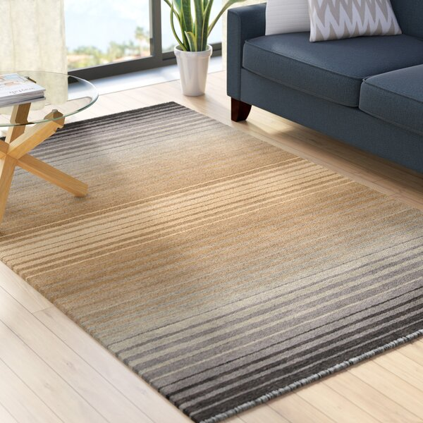 Laurette Wool Gray/Brown/Camel Area Rug by Zipcode Design