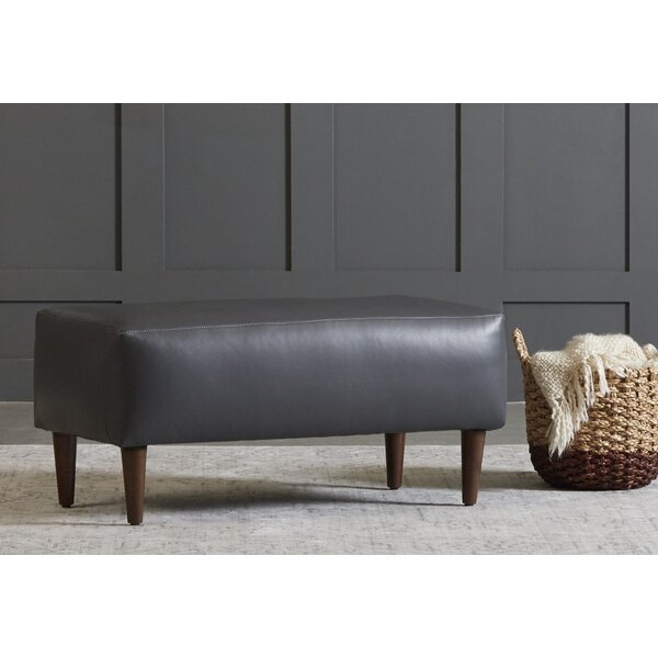 Brickey Leather Ottoman By Corrigan Studio