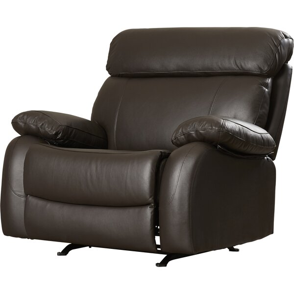Lavallie Leather Manual Glider Recliner RDBS2620