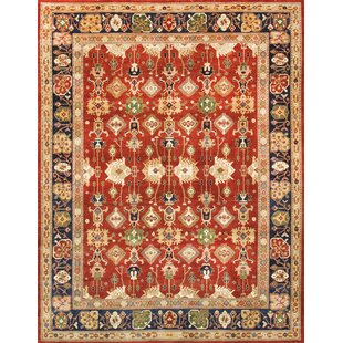 Top Reviews Sultanabad Hand-Knotted Wool Rust/Black Area Rug By Pasargad