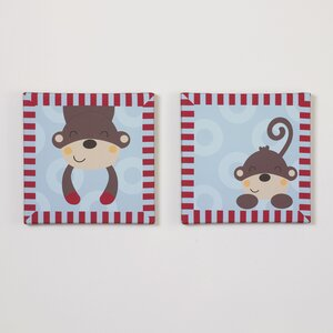 2 Piece Max Canvas Art Set by Belle
