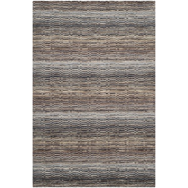 Keith Grey Stripes Area Rug by Latitude Run