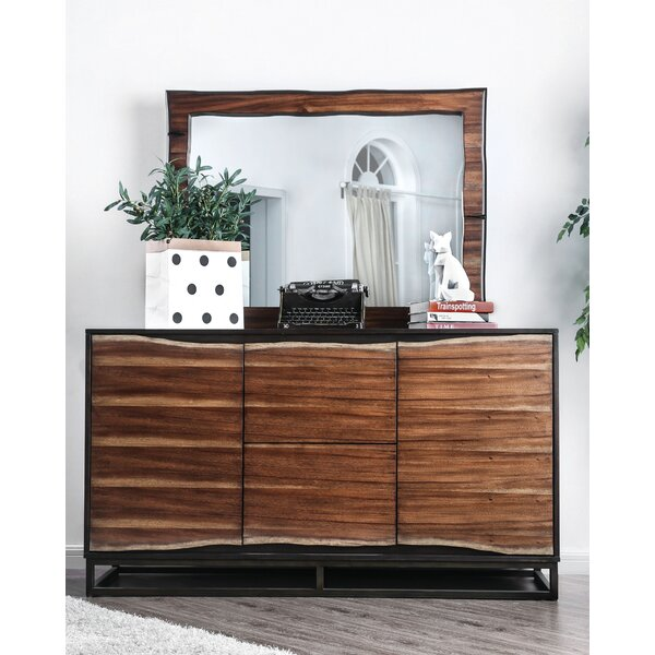 Odysseus 2 Drawer Double Dresser with Mirror by 17 Stories