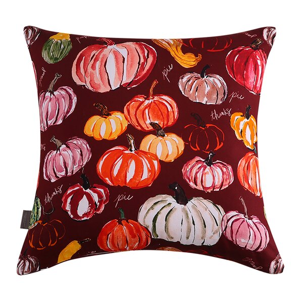 Purcell Pumpkins Cotton Throw Pillow by August Grove