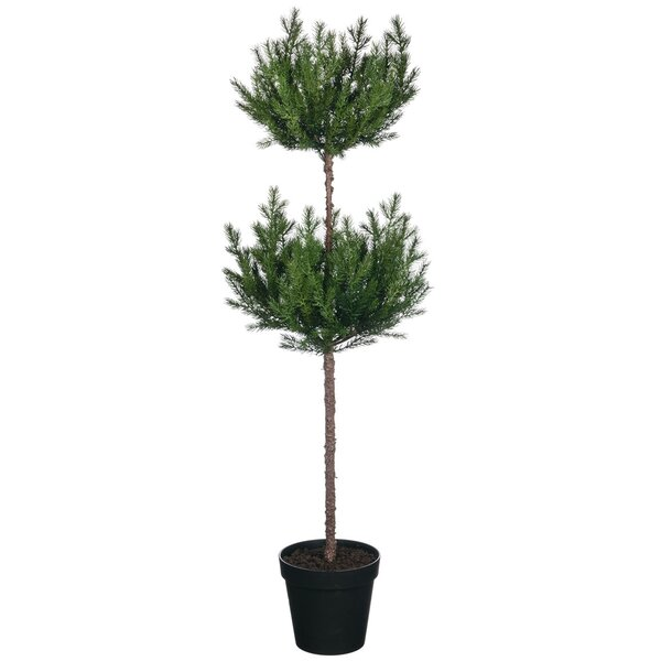 Double Cedar Floor Topiary by Millwood Pines