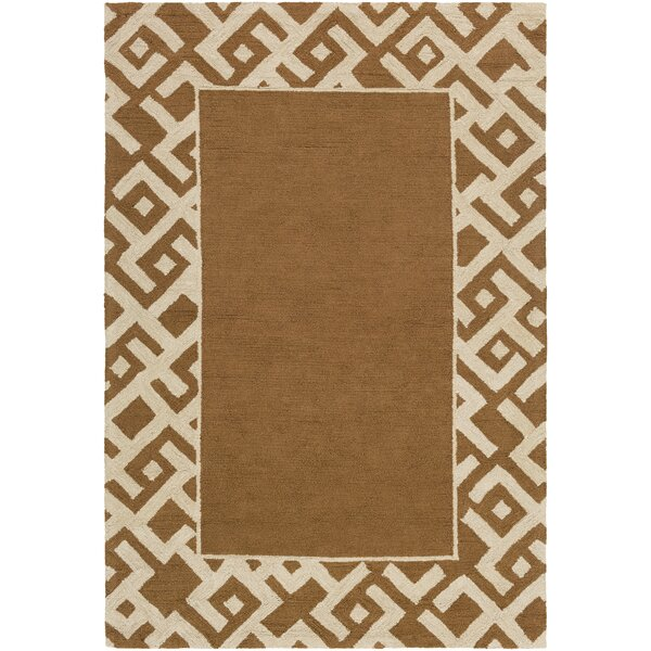 Judkins Hand-Tufted Taupe/Beige Area Rug by Bloomsbury Market
