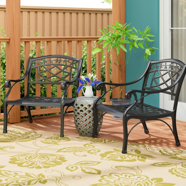 Carmen Cast Patio Chair (Set of 2) by Sol 72 Outdoor