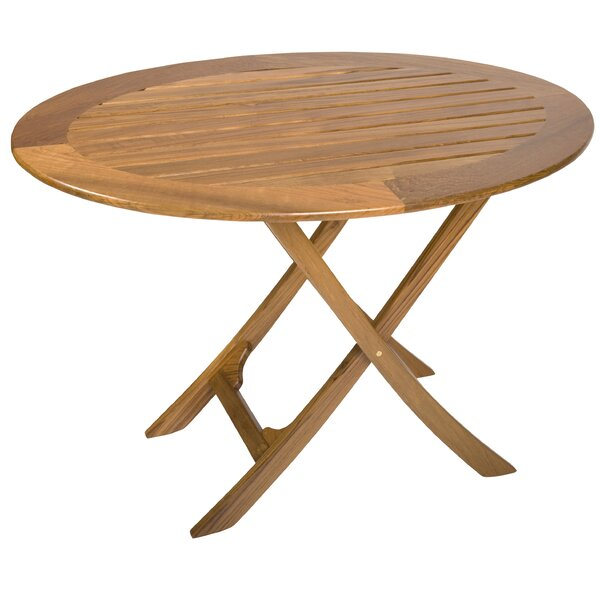Dolman Folding Teak Dining Table by Rosecliff Heights