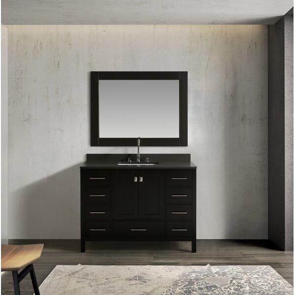 Highland Creek 48 Single Bathroom Vanity Set with Mirror by Ebern Designs