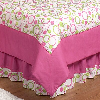 Circles Pink Queen Bed Skirt By Sweet Jojo Designs.