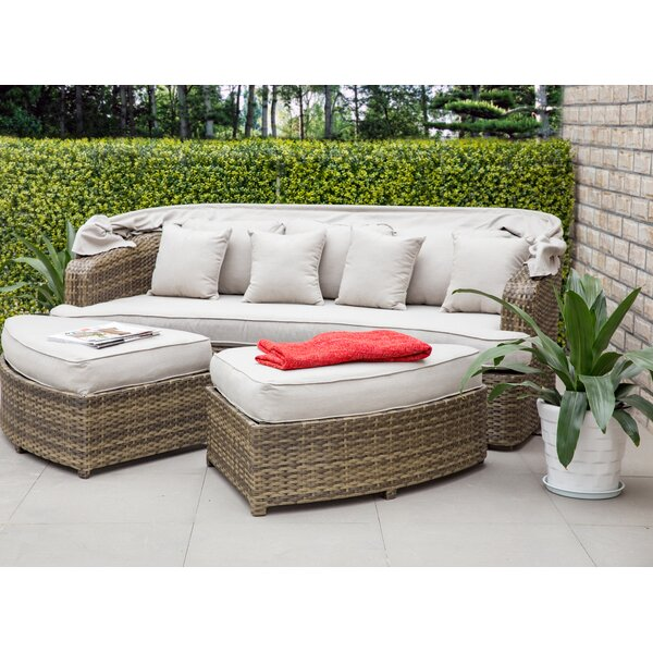 Burris Patio Daybed with Cushions by Rosecliff Heights