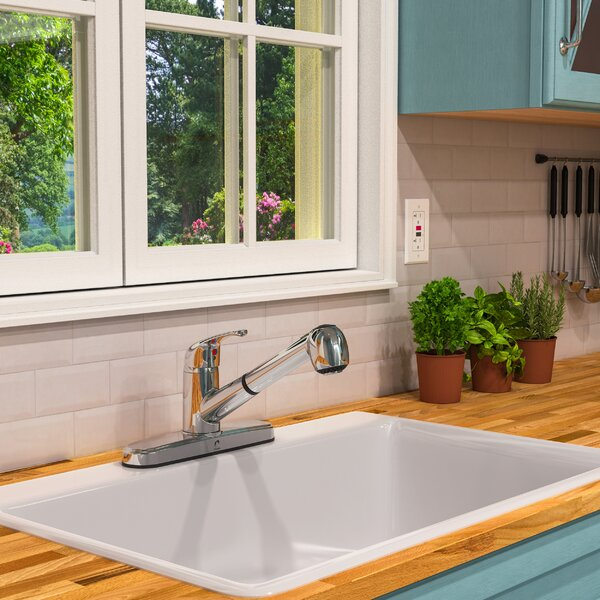 Belanger Pull Out Single Handle Kitchen Faucet