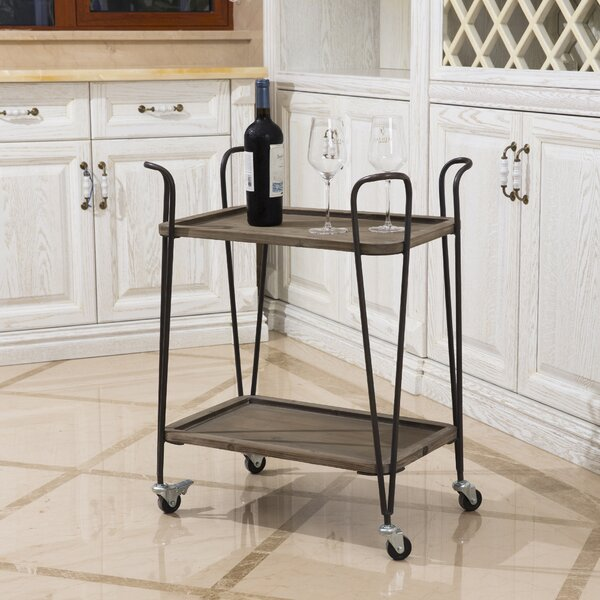 Borden 2 Tray Multipurpose Bar Cart by Williston Forge Williston Forge