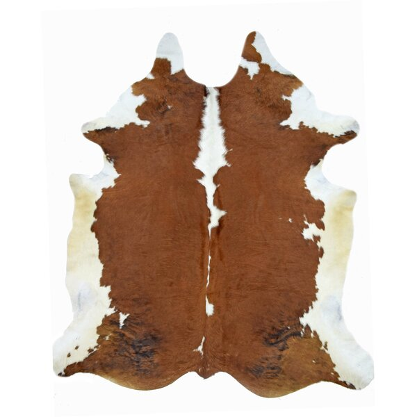 One-of-a-Kind Steinmetz Cowhide Brown Area Rug by Millwood Pines