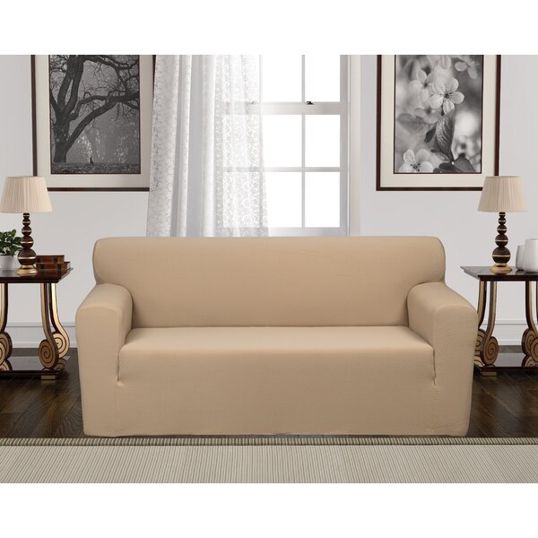Stretch Box Cushion Loveseat Slipcover By Winston Porter
