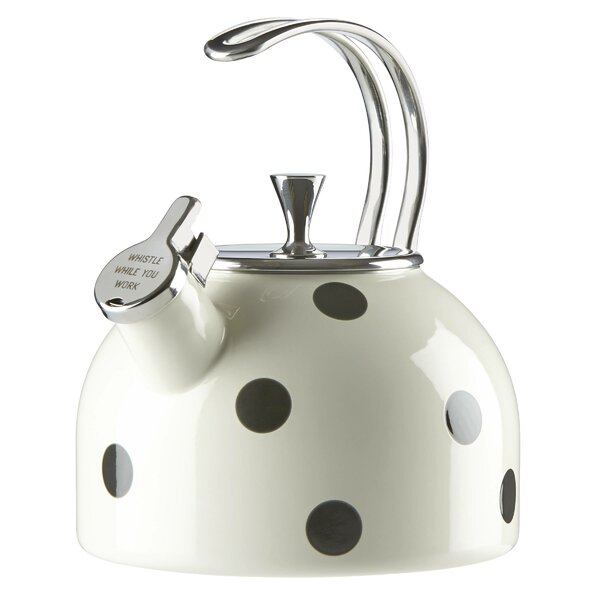 All in Good Taste 2.5-qt. Stainless Steel Deco Dot Tea Kettle by kate spade new york