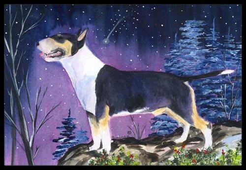 Bull Terrier Doormat by Caroline's Treasures